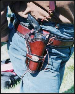 This lined, single loop holster is $150. The matching lined gunbelt  is also $150.